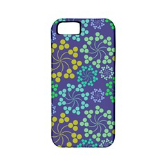 Color Variationssparkles Pattern Floral Flower Purple Apple iPhone 5 Classic Hardshell Case (PC+Silicone)