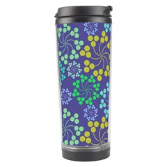 Color Variationssparkles Pattern Floral Flower Purple Travel Tumbler