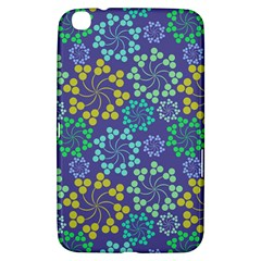 Color Variationssparkles Pattern Floral Flower Purple Samsung Galaxy Tab 3 (8 ) T3100 Hardshell Case