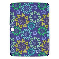 Color Variationssparkles Pattern Floral Flower Purple Samsung Galaxy Tab 3 (10.1 ) P5200 Hardshell Case