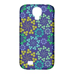 Color Variationssparkles Pattern Floral Flower Purple Samsung Galaxy S4 Classic Hardshell Case (PC+Silicone)
