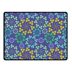 Color Variationssparkles Pattern Floral Flower Purple Double Sided Fleece Blanket (Small)