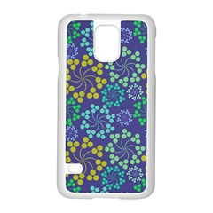 Color Variationssparkles Pattern Floral Flower Purple Samsung Galaxy S5 Case (White)