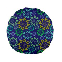 Color Variationssparkles Pattern Floral Flower Purple Standard 15  Premium Flano Round Cushions