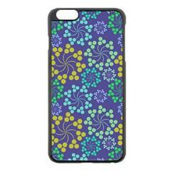 Color Variationssparkles Pattern Floral Flower Purple Apple iPhone 6 Plus/6S Plus Black Enamel Case