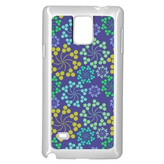 Color Variationssparkles Pattern Floral Flower Purple Samsung Galaxy Note 4 Case (White)