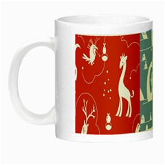 Deer Animals Swan Sheep Dog Whale Animals Flower Night Luminous Mugs