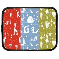 Deer Animals Swan Sheep Dog Whale Animals Flower Netbook Case (XL)