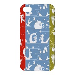 Deer Animals Swan Sheep Dog Whale Animals Flower Apple iPhone 4/4S Hardshell Case