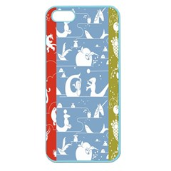 Deer Animals Swan Sheep Dog Whale Animals Flower Apple Seamless iPhone 5 Case (Color)