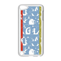 Deer Animals Swan Sheep Dog Whale Animals Flower Apple iPod Touch 5 Case (White)