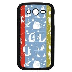 Deer Animals Swan Sheep Dog Whale Animals Flower Samsung Galaxy Grand DUOS I9082 Case (Black)