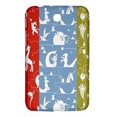 Deer Animals Swan Sheep Dog Whale Animals Flower Samsung Galaxy Tab 3 (7 ) P3200 Hardshell Case