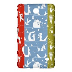 Deer Animals Swan Sheep Dog Whale Animals Flower Samsung Galaxy Tab 4 (7 ) Hardshell Case