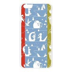 Deer Animals Swan Sheep Dog Whale Animals Flower Apple Seamless iPhone 6 Plus/6S Plus Case (Transparent)