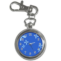 Flower Floral Blue Key Chain Watches