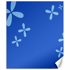 Flower Floral Blue Canvas 20  x 24
