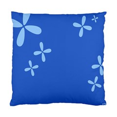 Flower Floral Blue Standard Cushion Case (Two Sides)