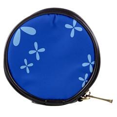 Flower Floral Blue Mini Makeup Bags