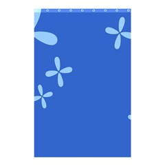 Flower Floral Blue Shower Curtain 48  x 72  (Small)