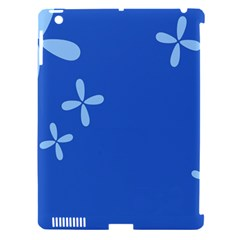 Flower Floral Blue Apple iPad 3/4 Hardshell Case (Compatible with Smart Cover)