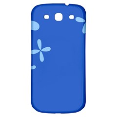 Flower Floral Blue Samsung Galaxy S3 S III Classic Hardshell Back Case