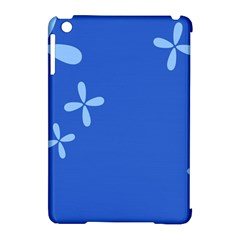 Flower Floral Blue Apple iPad Mini Hardshell Case (Compatible with Smart Cover)