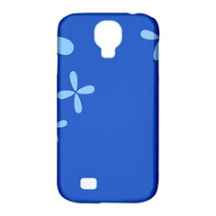 Flower Floral Blue Samsung Galaxy S4 Classic Hardshell Case (PC+Silicone)
