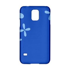 Flower Floral Blue Samsung Galaxy S5 Hardshell Case