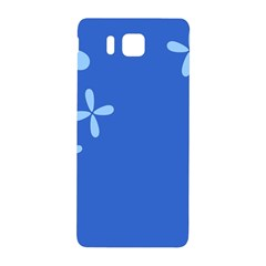 Flower Floral Blue Samsung Galaxy Alpha Hardshell Back Case