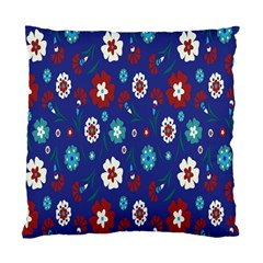 Flower Floral Flowering Leaf Blue Red Green Standard Cushion Case (One Side)