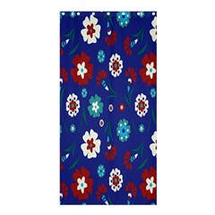 Flower Floral Flowering Leaf Blue Red Green Shower Curtain 36  x 72  (Stall)
