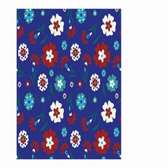 Flower Floral Flowering Leaf Blue Red Green Small Garden Flag (Two Sides)