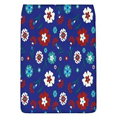 Flower Floral Flowering Leaf Blue Red Green Flap Covers (L)