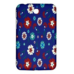 Flower Floral Flowering Leaf Blue Red Green Samsung Galaxy Tab 3 (7 ) P3200 Hardshell Case