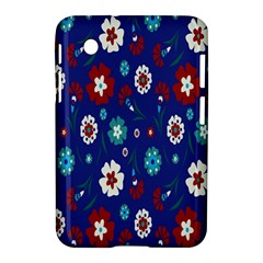 Flower Floral Flowering Leaf Blue Red Green Samsung Galaxy Tab 2 (7 ) P3100 Hardshell Case