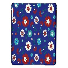 Flower Floral Flowering Leaf Blue Red Green iPad Air Hardshell Cases