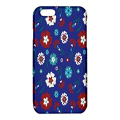 Flower Floral Flowering Leaf Blue Red Green iPhone 6/6S TPU Case