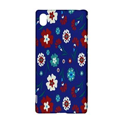 Flower Floral Flowering Leaf Blue Red Green Sony Xperia Z3+