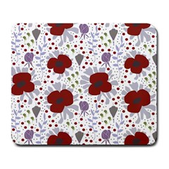 Flower Floral Rose Leaf Red Purple Large Mousepads