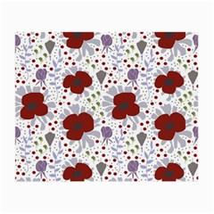 Flower Floral Rose Leaf Red Purple Small Glasses Cloth