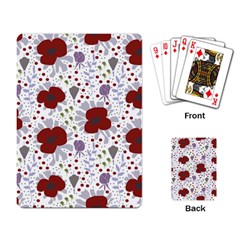 Flower Floral Rose Leaf Red Purple Playing Card
