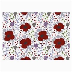 Flower Floral Rose Leaf Red Purple Large Glasses Cloth (2-Side)