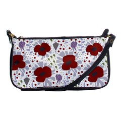 Flower Floral Rose Leaf Red Purple Shoulder Clutch Bags