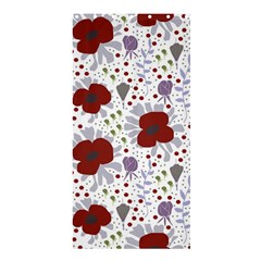 Flower Floral Rose Leaf Red Purple Shower Curtain 36  x 72  (Stall)