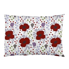 Flower Floral Rose Leaf Red Purple Pillow Case (Two Sides)
