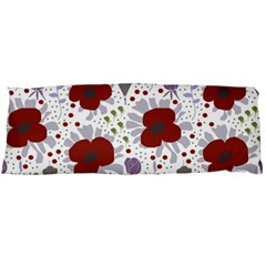 Flower Floral Rose Leaf Red Purple Body Pillow Case Dakimakura (Two Sides)