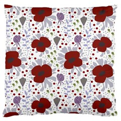 Flower Floral Rose Leaf Red Purple Large Cushion Case (Two Sides)