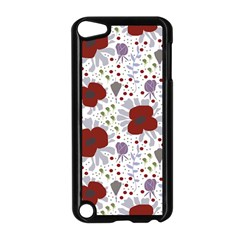 Flower Floral Rose Leaf Red Purple Apple iPod Touch 5 Case (Black)