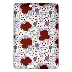 Flower Floral Rose Leaf Red Purple Amazon Kindle Fire HD (2013) Hardshell Case